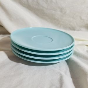 Vintage Kitchen - Vintage Melmac Futura Saucers | Blue | set of 4